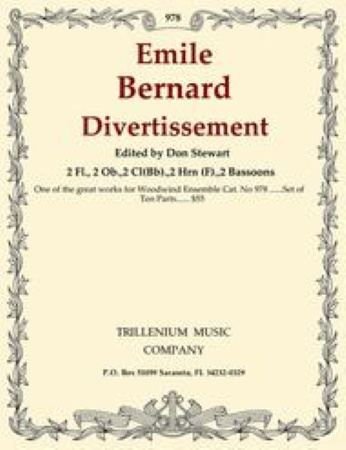 DIVERTISSEMENT Op.36 set of parts