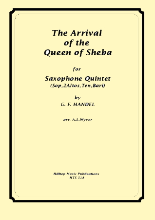 THE ARRIVAL OF THE QUEEN OF SHEBA score & parts
