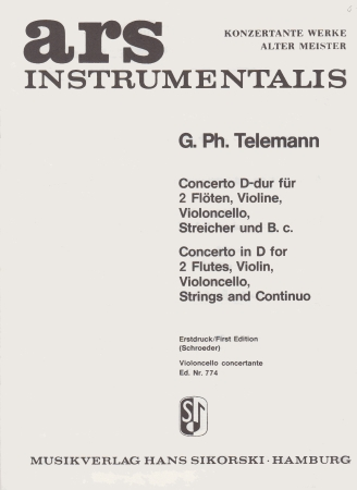 CONCERTO in D solo cello part