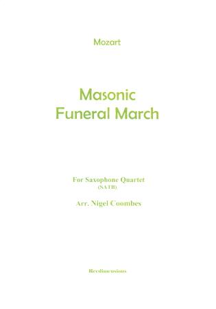 MASONIC FUNERAL MARCH score & parts