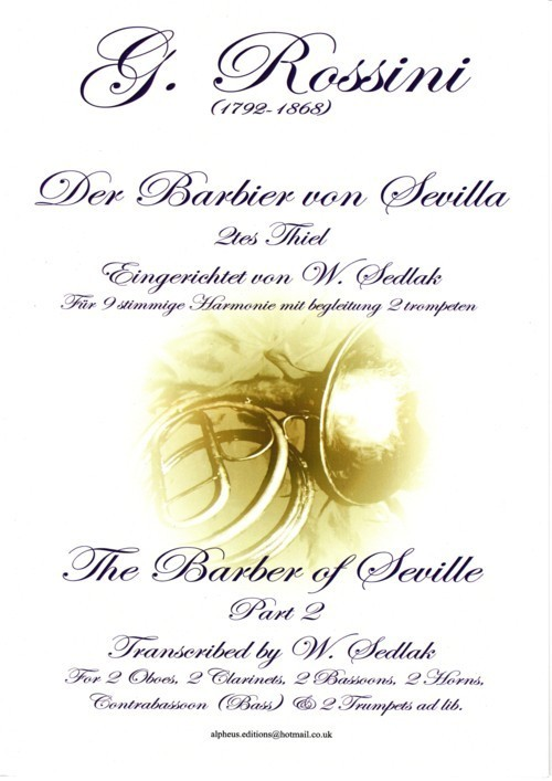 THE BARBER OF SEVILLE Part 2 score & parts