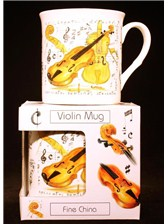 FINE CHINA MUG Violin Design