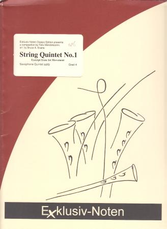 STRING QUINTET No.1 (score & parts)