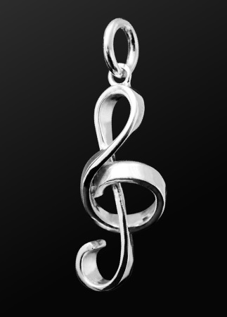 STERLING SILVER PENDANT Treble Clef (Small)