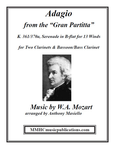 ADAGIO from Gran Partita K361 (score & parts)