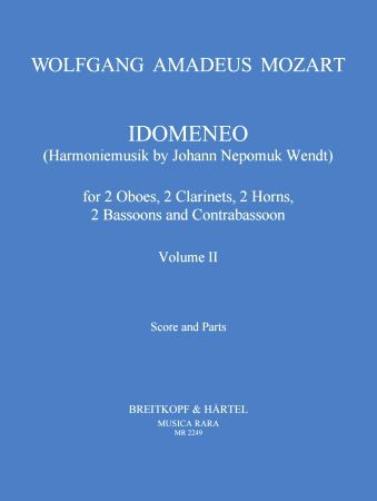 IDOMENEO Volume 2 score & parts