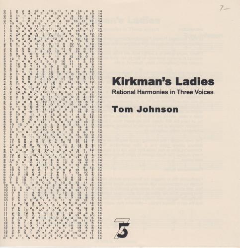 KIRKMAN'S LADIES Rational Harmonies in Three Voices