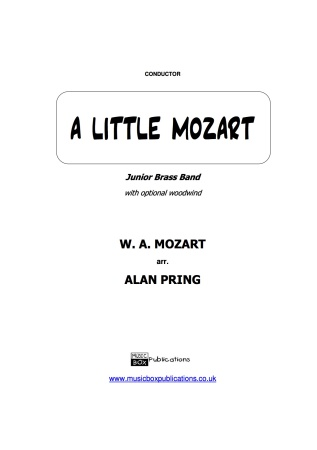 A LITTLE MOZART (score & parts)