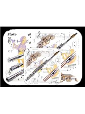 PLACEMAT AND COASTER SET Flute