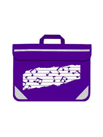 MUSIC BAG DUO Music Notes (Purple)