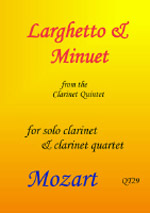 LARGHETTO & MINUET from Clarinet Quintet