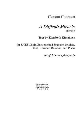 A DIFFICULT MIRACLE 2 scores & horn part