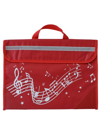 MUSIC BAG Wavy Stave (Red)