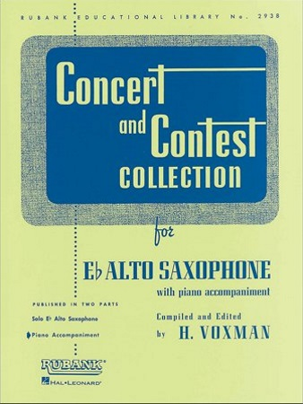 CONCERT AND CONTEST COLLECTION piano accompaniment