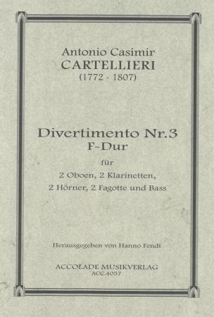 DIVERTIMENTO No.3 in F major score & parts
