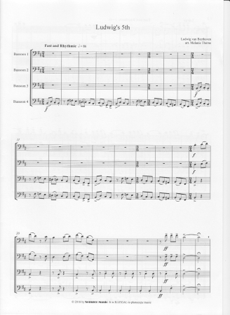 LUDWIG'S 5th (score & parts)