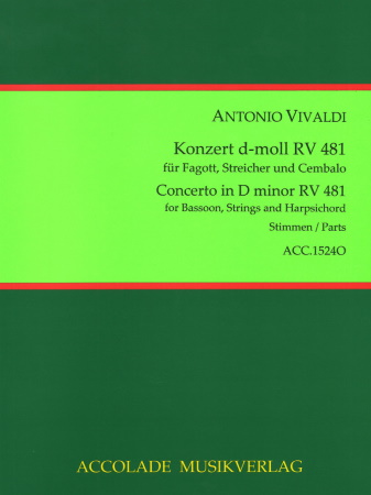 CONCERTO in D minor No.5 RV481 (set of parts)