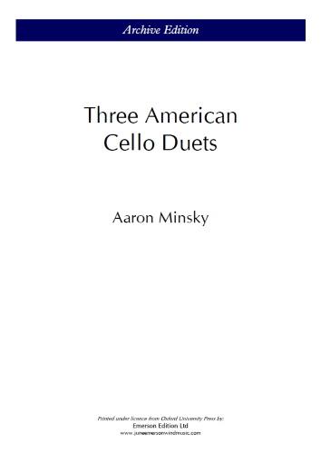 THREE AMERICAN CELLO DUETS