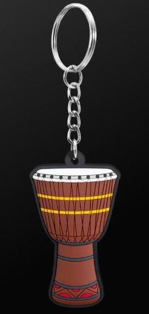 INSTRUMENT KEYRING African Drum (Brown)