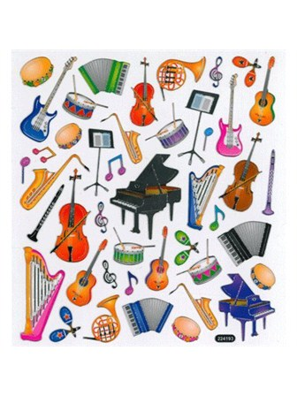 STICKERS Musical Instruments
