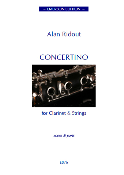 CONCERTINO FOR CLARINET (set of parts)