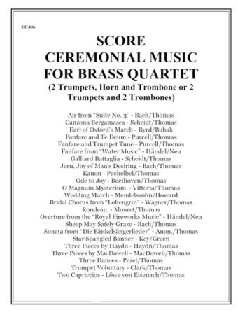 CEREMONIAL MUSIC for Brass Quartet (score)