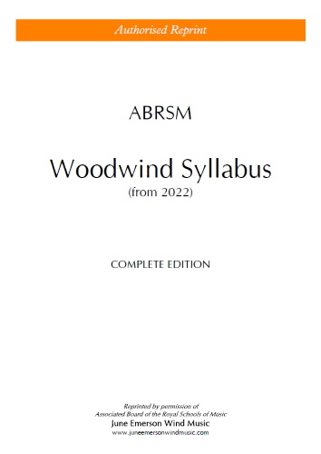 ABRSM WOODWIND SYLLABUS from 2022 (Complete)