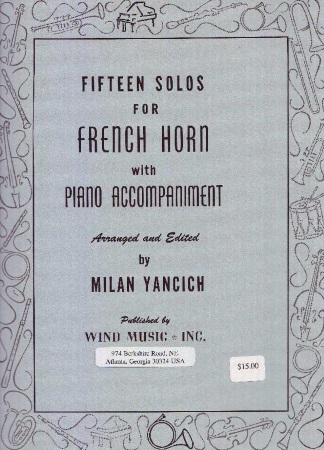 15 SOLOS for French Horn