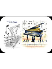 PLACEMATS Piano (Pack of 4)