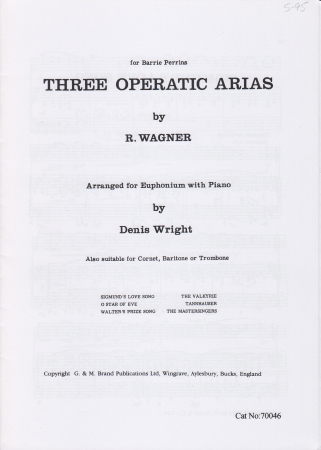 THREE OPERATIC ARIAS (treble clef)