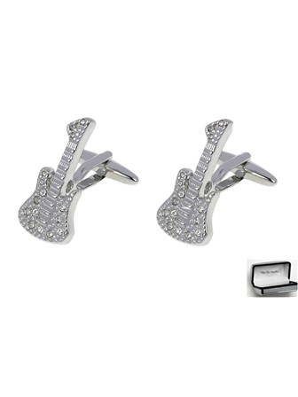 CUFFLINKS Crystal Guitar