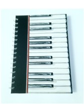 A5 HARDBACK SPIRAL BOUND NOTEBOOK Piano Keys