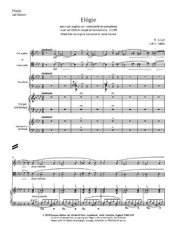 ELEGIE S.129b Harp part (ad libitum)