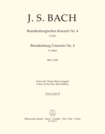 Brandeburg Concerto No.4 - Treble Recorder 2