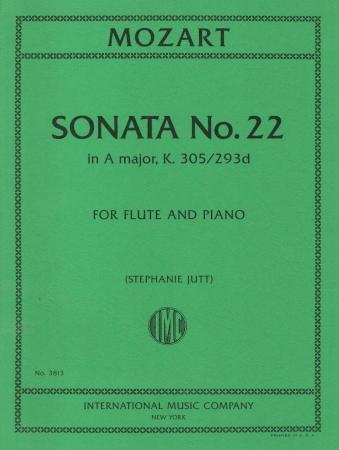SONATA No.22 in A Major K.305/293D