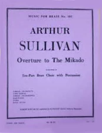 OVERTURE TO THE MIKADO (score & parts)