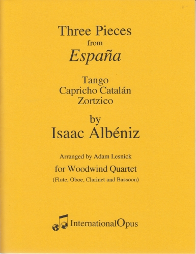 THREE PIECES FROM ESPANA (score & parts)