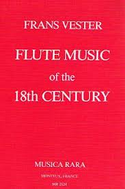 FLUTE MUSIC OF THE 18th CENTURY hardback