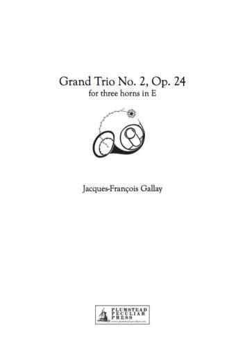 TROIS GRAND TRIOS Op.24 No.2