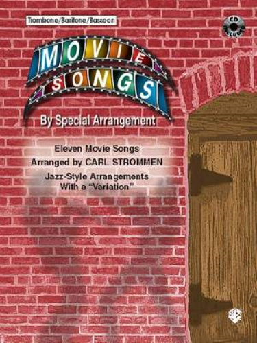 MOVIE SONGS by Special Arrangement + CD (bass clef)