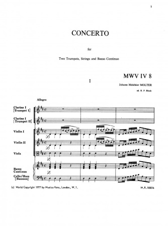 CONCERTO in D major MWV IV/8
