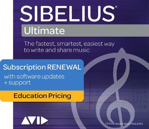 SIBELIUS Ultimate 1 Year Subscription Renewal + Support & Updates - Student/Teacher (Digital Delivery)