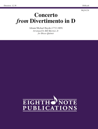 CONCERTO from Divertimento in D major