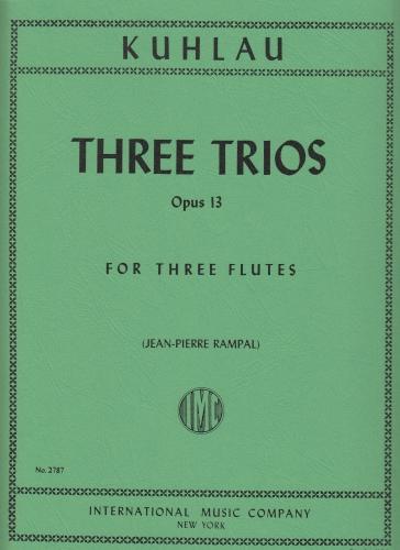 THREE TRIOS Op.13 (set of parts)