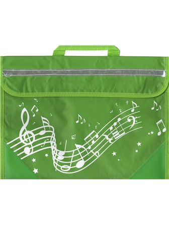 MUSIC BAG Wavy Stave (Green)