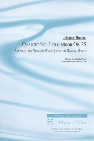 QUARTET No.1 in G minor Op.25