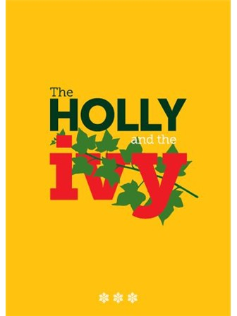 CHRISTMAS CARD Holly and the Ivy (Yellow)