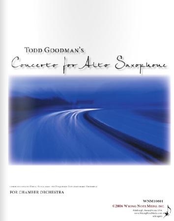 CONCERTO for Alto Saxophone (score)