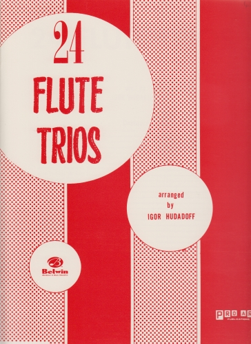 24 FLUTE TRIOS playing score