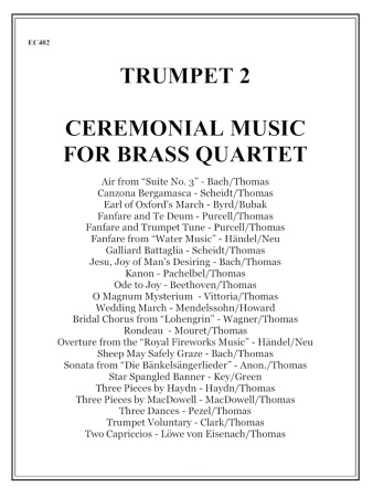 CEREMONIAL MUSIC for Brass Quartet 2nd Trumpet